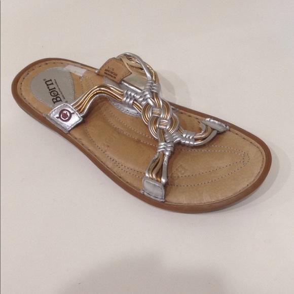 Born Shoes - Born Multi Metallic Braided Leather Sandal